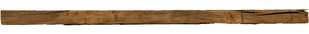 008 - Hand Hewn Mantel - 109 in