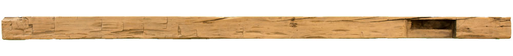 009 - Hand Hewn Mantel - 109.5 in