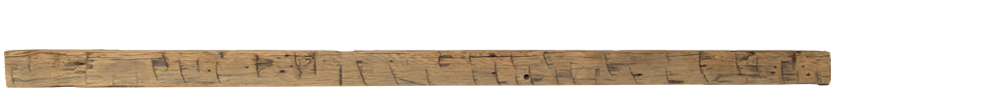 257 - Hand Hewn Mantel - 84 in