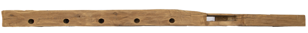 258 - Hand Hewn Mantel - 106 in