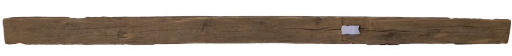 261 - Hand Hewn Mantel - 106 in