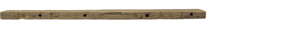 297 - Hand Hewn Mantel - 74 in