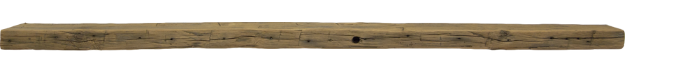 299 - Hand Hewn Mantel - 87 in