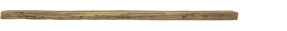 303 - Hand Hewn Mantel - 84 in