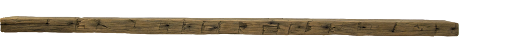 306 - Hand Hewn Mantel - 89 in