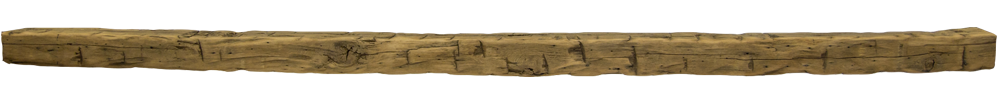 328 - Hand Hewn Mantel - 105 in