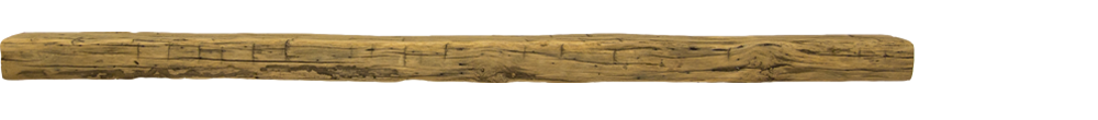 331 - Hand Hewn Mantel - 84 in