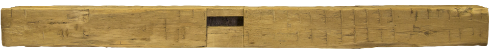 334 - Hand Hewn Mantel - 108 in