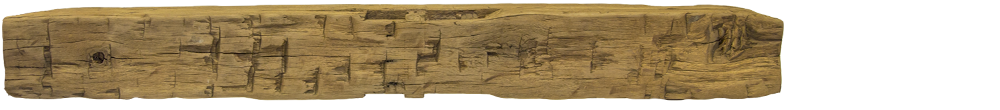 338 - Hand Hewn Mantel - 80 in