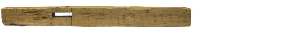 341 - Hand Hewn Mantel - 77 in