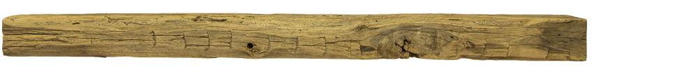 342 - Hand Hewn Mantel - 86 in