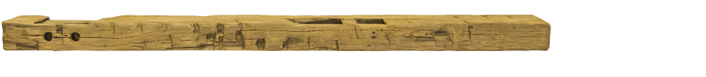 347 - Hand Hewn Mantel - 78 in