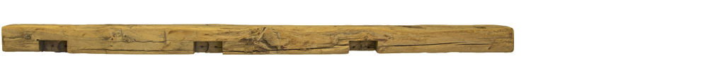 348 - Hand Hewn Mantel - 74 in
