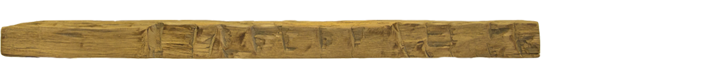 349 - Hand Hewn Mantel - 68 in