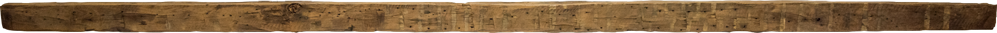 379 - Hand Hewn Mantel - 121 in