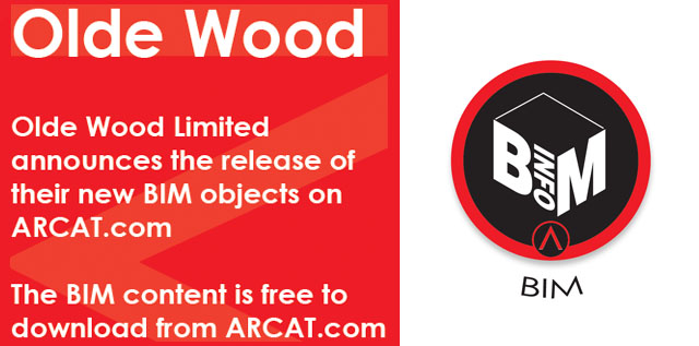 Olde Wood Announces Release of Their New BIM Objects on ARCAT.com