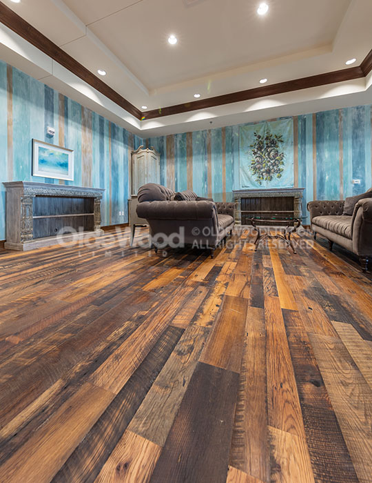 Distressed Oak Reclaimed Flooring Wide Plank Oak Floor