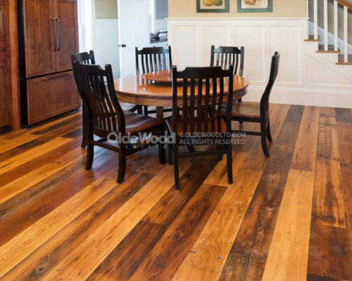 Reclaimed Antique Wormy Chestnut Wide Plank Flooring