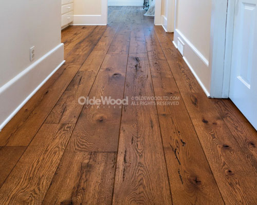 Reclaimed wood flooring wide plank floors reclaimed for Recycled hardwood