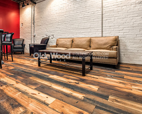 Reclaimed Antique Tobacco Pine Wide Plank Flooring
