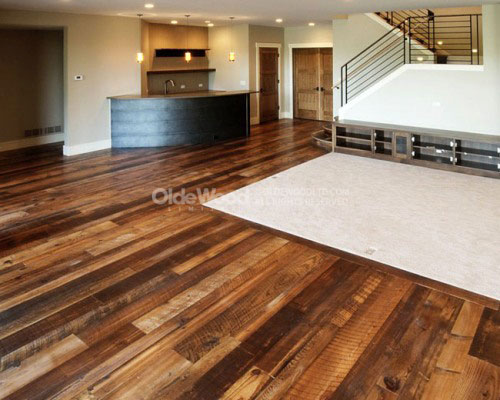 Reclaimed wood flooring wide plank floors reclaimed for Tobacco pine flooring