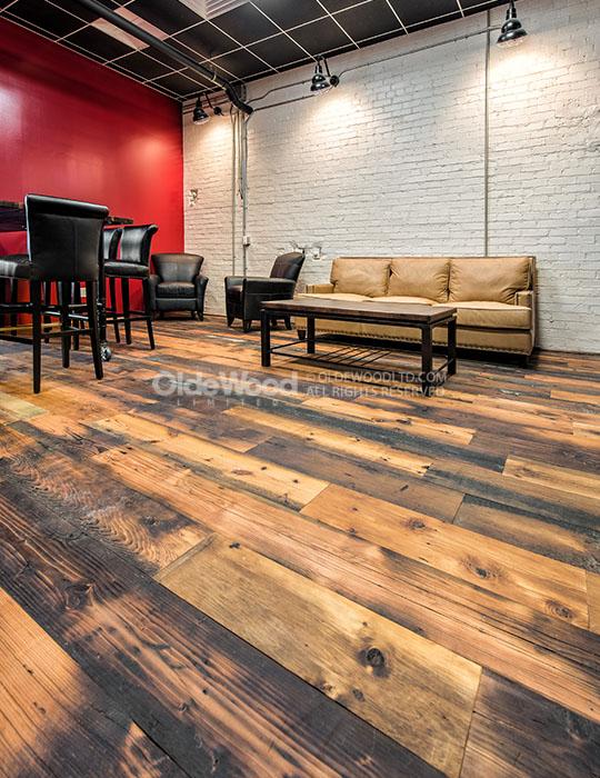 Reclaimed tobacco pine flooring wide plank tobacco pine for Antique pine flooring