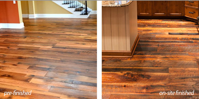 Olde wood blog helpful articles about wood ohio for Hardwood flooring prefinished vs unfinished