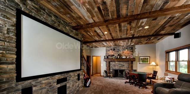 Project Spotlight - Lower Level Remodel with Reclaimed Hardwoods - Olde Wood Blog Helpful Articles About Wood Ohio