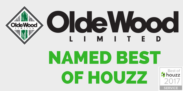 Olde Wood Awarded Best of Houzz 2017