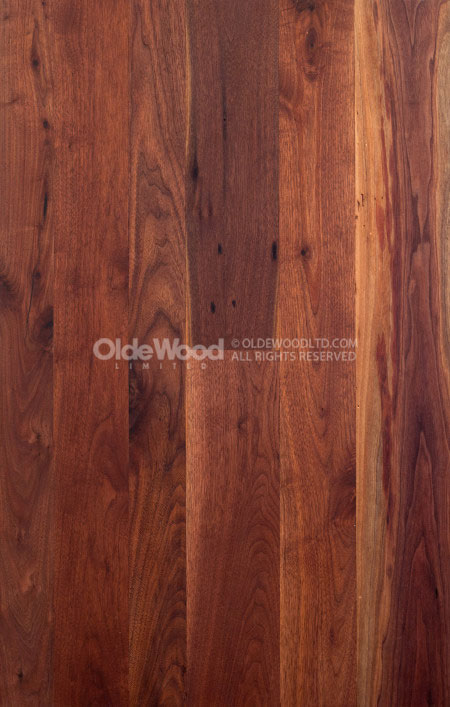 Lovely Reclaimed Walnut Flooring | Wide Plank Walnut Floor | Olde Wood MY55