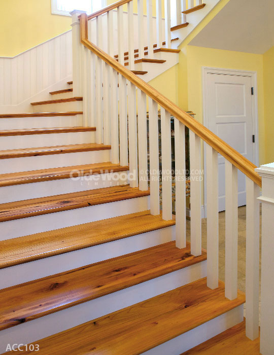 Reclaimed Wood Stair Parts Reclaimed Stair Treads Olde Wood
