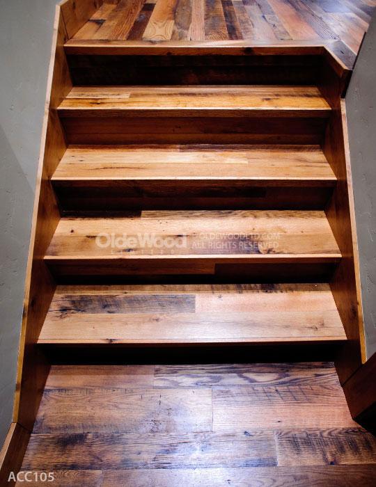 Reclaimed Wood Stair Parts Reclaimed Stair Treads Olde
