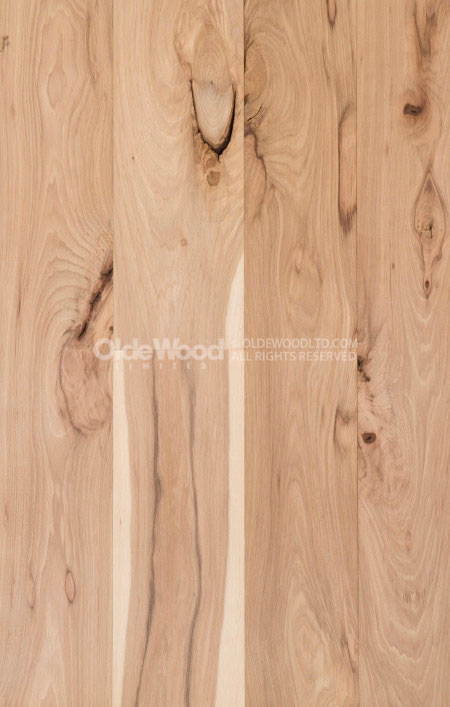 Wide plank hickory flooring hickory wood floor olde wood for Raw wood flooring