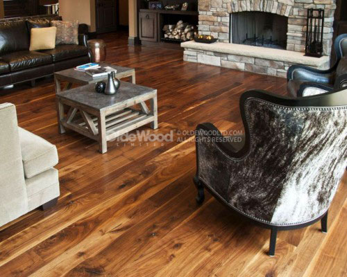 Traditional Plank Walnut Flooring