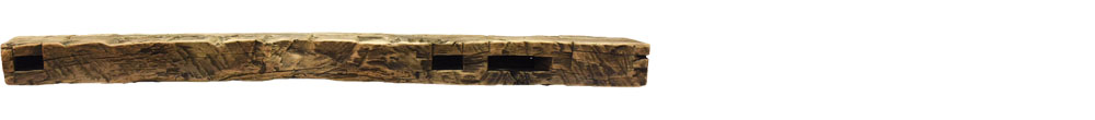 409 - Hand Hewn Mantel - 64 in